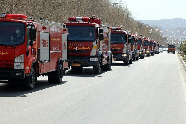 آماده باش 500 آتش نشان در مشهد به دلیل تغییرات جوی و بارش باران